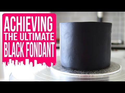 How to paint white fondant / icing black - cake craft city