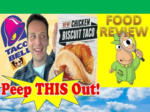 Taco bell® chicken biscuit taco review! peep this out!