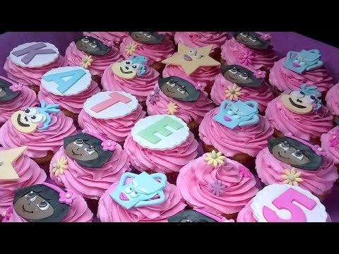 """How to make """"dora the explorer"""" cupcakes"""