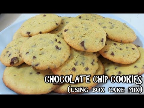Chocolate chip cookies using box cake mix | baking | desserts and snacks