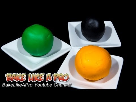 How to color fondant !