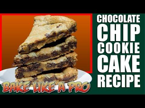 Chocolate chip cookie cake recipe / chocolate chip cookie pizza recipe