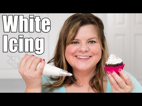 How to make perfect white icing / white buttercream recipe for cake decorating