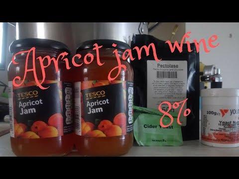 Making simple apricot jam wine 8%