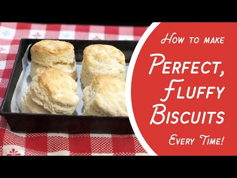 How to make perfect, fluffy biscuits every time! (3 ingredients: self-rising flour, milk & butter)
