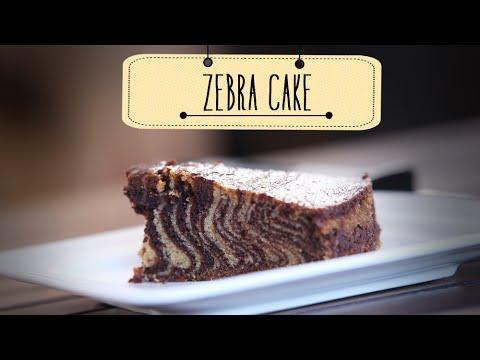 Zebra cake   eggless dessert cake recipe   beat batter bake with priyanka