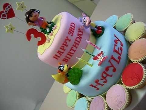 Dora cupcake cake