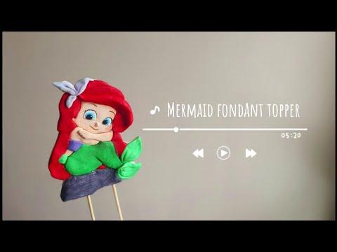 How to make mermaid fondant/gumpaste topper | 2d