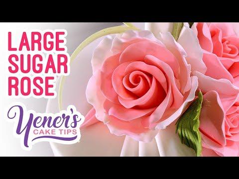 Easy large sugar rose tutorial | yeners cake tips with serdar yener from yeners way