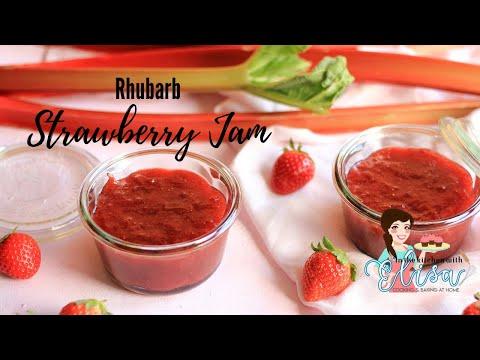 How to make easy rhubarb & strawberry jam recipe