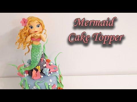 How to make fondant mermaid cake topper