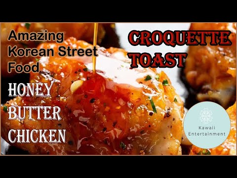 Croquette toast - fried croquette toast with honey chicken butter | korean street food